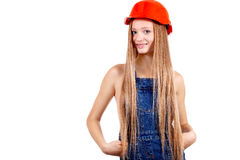 Beauty woman in working clothes Stock Photography