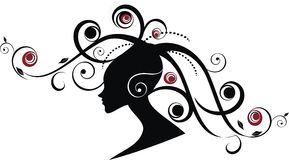 Beauty women. Africana women in color black, red and gray Royalty Free Stock Image