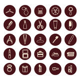 Beauty women accessories  outline icons Stock Photo