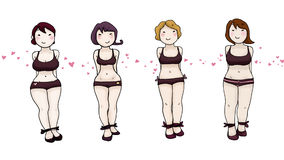 Beauty women body types Royalty Free Stock Image