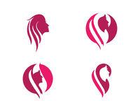 Beauty Women face silhouette Stock Images