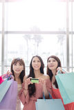 Beauty women in mall Royalty Free Stock Photos