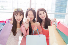 Beauty women in mall Royalty Free Stock Images