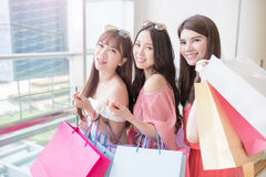 Beauty women in mall Royalty Free Stock Photo