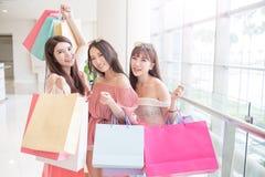 Beauty women in mall Royalty Free Stock Photo