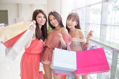 Beauty women in mall Stock Photography