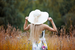 Beauty women Outdoors enjoying nature. Girl in a Royalty Free Stock Photography