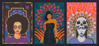 Free Beauty Women Vector Portraits Set Royalty Free Stock Photo - 221458925