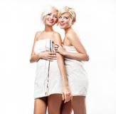 Beauty women wearing towels Royalty Free Stock Images