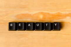 Beauty word Royalty Free Stock Image
