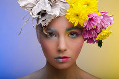 Beauty in a wreath Royalty Free Stock Image