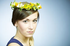 Beauty with wreath Royalty Free Stock Images