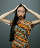 Beauty young asian girl with make up like Royalty Free Stock Photos