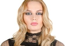 Beauty young blond woman Royalty Free Stock Photography