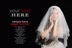 Beauty young bride Royalty Free Stock Photos