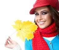 Woman autumn stock images