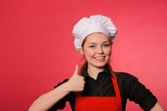 Beauty young cook Stock Image