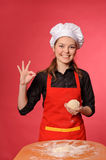 Beauty young cook Stock Photos