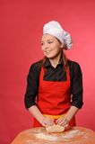 Beauty young cook Royalty Free Stock Images