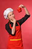 Beauty young cook Stock Photography