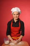 Beauty young cook Stock Photo