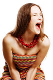 Beauty young crying woman Royalty Free Stock Photos