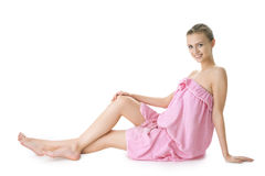 Beauty young girl  day spa Stock Photos