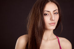 Beauty young girl face Stock Photo