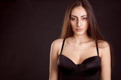 Beauty young girl face Stock Photos