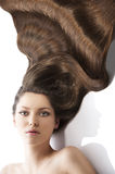 Beauty young girl hairstyle,and a lot of hair Stock Photo