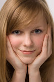 Beauty young girl portrait royalty free stock photography