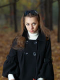 Beauty young girl with wondering emotion. Outdoor portrait of beauty young girl Stock Photos