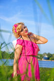 Beauty young pin-up woman Stock Photo