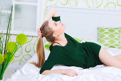 Beauty of young pretty woman. Beauty of young pretty woman with perfect shape royalty free stock image
