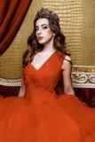 Beauty young queen Stock Photos