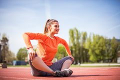 Beauty young sport woman. royalty free stock photo