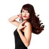 Beauty young woman with beautiful long hair Stock Photos