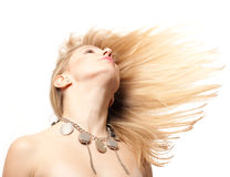 Beauty young woman with blond hairs Royalty Free Stock Images