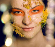 Beauty young woman with creative make up Stock Photography