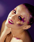 Beauty young woman with creative make up Royalty Free Stock Image