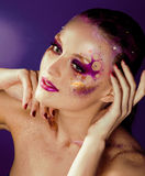 Beauty young woman with creative make up Royalty Free Stock Photos