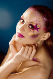 Beauty young woman with creative make up Royalty Free Stock Photography
