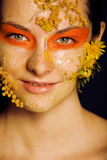 Beauty young woman with creative make up Stock Photos