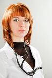 Beauty young woman doctor Stock Images