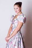Beauty young woman in dress in victorian style Royalty Free Stock Photography