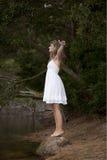 Beauty young woman enjoying nature Stock Photography