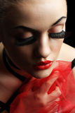 Beauty Young Woman with False Eyelashes Stock Photos