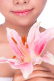 Beauty young woman with flower Stock Photography