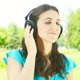 Beauty young woman with headphones Stock Image
