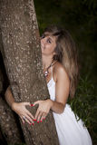 Beauty young woman that loves nature Stock Images